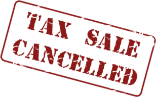 Tax Sale Cancelled